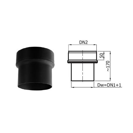 Redukcja kominowa fi 180/160 mm