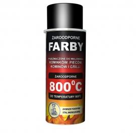 Farba spray żaroodporna 400 ml Czarna RAL 910