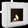 Biokominek portalowy EGZUL biały z kryształami Swarovski połysk