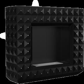 Biokominek portalowy EGZUL czarny z kryształami Swarovski mat