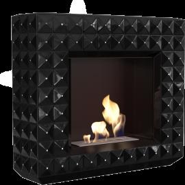 Biokominek portalowy EGZUL czarny z kryształami Swarovski połysk