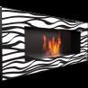 Biokominek wiszący DELTA 2 czarny ZEBRA