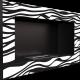 Biokominek wiszący GOLF czarny ZEBRA