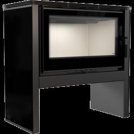 Piec stalowy ARKE 12 N panel czarny