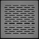 Kratka podłogowa FLOOR szlifowana 17x17