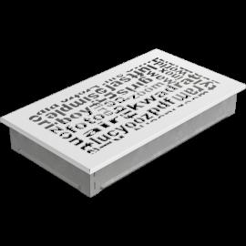 Kratka ozdobna ABC biała 17x30