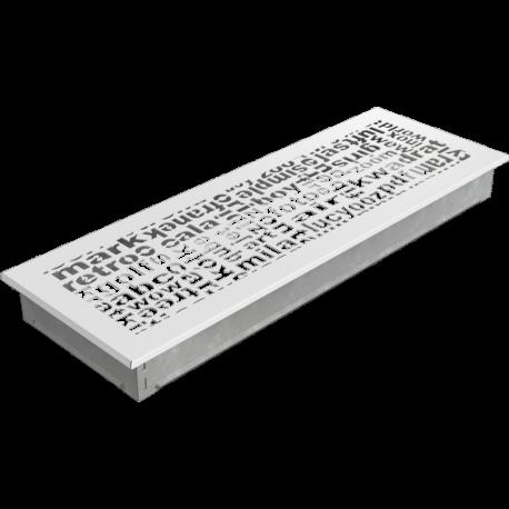 Kratka ozdobna ABC biała 17x49