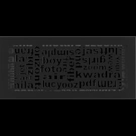 Kratka ozdobna ABC czarna 17x37