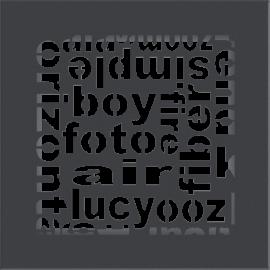 Kratka ozdobna ABC grafitowa 17x17