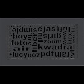 Kratka ozdobna ABC grafitowa 17x30