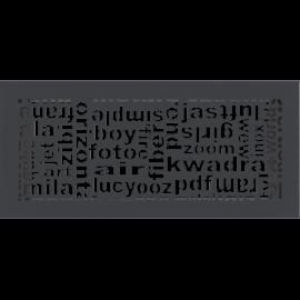 Kratka ozdobna ABC grafitowa 17x37