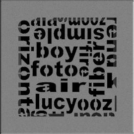 Kratka ozdobna ABC granito 17x17