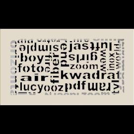 Kratka ozdobna ABC kremowa 17x30