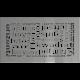 Kratka ozdobna ABC szlifowana 17x30
