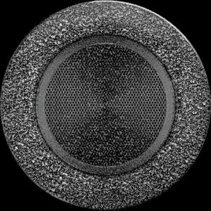 Kratka okrągła czarno-srebrna fi 125