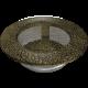 Kratka okrągła czarno-złota fi 100