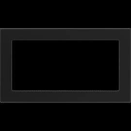 Kratka wentylacyjna czarna 17x30