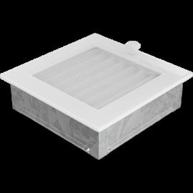 Kratka wentylacyjna biała z żaluzją 17x17