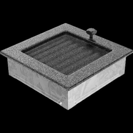 Kratka czarno srebrna z żaluzją 17x17