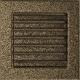 Kratka czarno złota z żaluzją 17x17