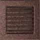 Kratka miedziana z żaluzją 17x17