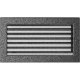 Kratka czarno srebrna z żaluzją 17x30