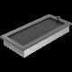 Kratka czarno srebrna z żaluzją 17x37