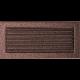 Kratka miedziana z żaluzją 17x37