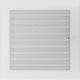 Kratka biała z żaluzją 22x22