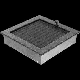 Kratka czarno-srebrna z żaluzją 22x22