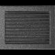 Kratka czarno-srebrna z żaluzją 22x30