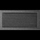 Kratka czarno-srebrna z żaluzją 22x45