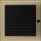 Kratka złoto galwaniczne z żaluzją 22x22