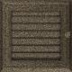 Kratka Oskar czarno-złota z żaluzją 17x17