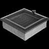 Kratka Oskar czarno-srebrna z żaluzją 17x17