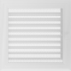 Kratka Oskar biała z żaluzją 22x22