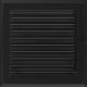 Kratka Oskar czarna z żaluzją 22x22