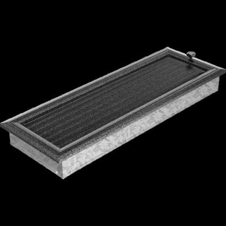 Kratka Oskar czarno-srebrna z żaluzją 17x49