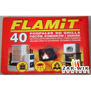 FLAMIT podpałka do grilla, kominka, pieca 40 sztuk