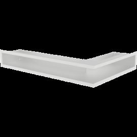 Kratka LUFT narożny lewy biały 60x40x9