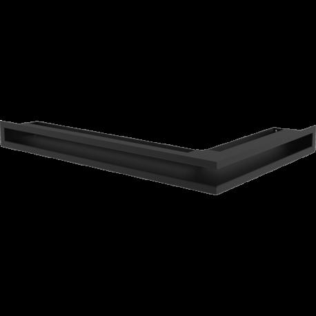 Kratka LUFT narożny lewy czarny 76,6x54,7x9
