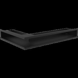 Kratka LUFT narożny prawy czarny 40x60x9