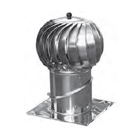 Obrotowa nasada kominowa Turbowent Ø150 podstawa nastawna alu-ocynk