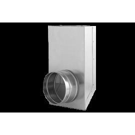 Kształtka L z wylotem okrągłym KLO 150x50/125-OC